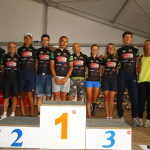 Ciclismo, circuito Coppa Piemonte 2015, Cervinia (ITA), podium