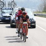 Ciclismo, circuito Coppa Piemonte 2015, Pila (ITA), 14a DolciTerre, 14a DolciTerre, Andrea Gallo tira il gruppetto nelle battute finali